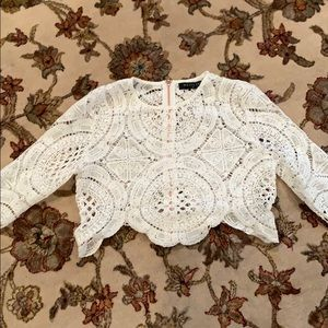 Whitefox Boutique white lace crop top